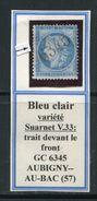 FRANCE- Y&T N°60B- GC 6345- AUBIGNY AU BAC (57)- Variété Suarnet V33- Très Rare!!!!! - Marcophilie (Timbres Détachés)