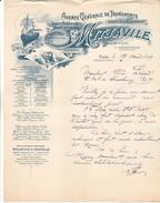 75 Paris - Agence  Gle De Transports MITJAVILE 1 Ble De Bercy. Lettre Illustrée De 1899, Tb état. - France