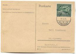 Germany WW2, Third Reich - Postkarte 1944. RONSDORF, Deutscher Luftpost - Deutschland