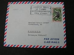 Afrika Brief Affe 1064 Cote De Ivore , Selten - Affen