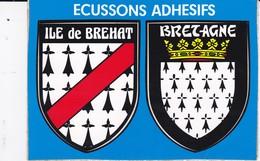 [22] Côtes D'Armor > Ile De Bréhat  Carte Blason Bretagne Adhesifs - Ile De Bréhat