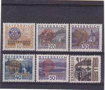 # E-8246 Austria 1931 Full Set MLH Michel 518 -23: Rotary Club - 1918-1945 1ra República