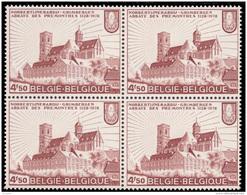Belgium 1888** X 4  Abbaye Des Prémontrés  MNH - Neufs