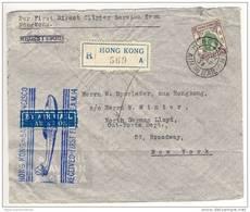 Hongkong - 30 AP 37 , R-letter First Flight HONG KONG To SAN FRANCISCO , 3 DOLLAR Georg V - Hong Kong (...-1997)