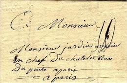 1785- Lettre  De LUCON  - Lenain L4 à Sec   Taxe 10 Sols  Pour Paris - Postmark Collection (Covers)