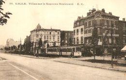 Lille Villas Sur Le Nouveau Boulevard Mongy 400 Tram Tramway Streetcar Editions Cailteux-Gorlier - Lille