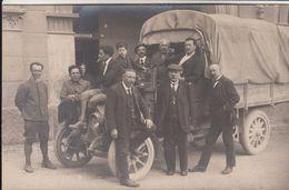 AUTO CAMION TRUCK FIAT 18 BL - FOTO ORIGINALE ANIMATA 1920/30 TORINO (?) - Cars