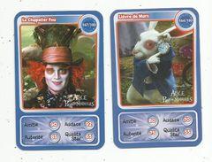 Carte De Collection , DISNEY, ALICE AU PAYS DES MERVEILLES , LOT DE 2 CARTES - Disney