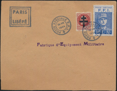 Militaria Frankreich Brief Paris Libere Charles De Gaulle Poste Speziale F.F.I.  - Frankreich