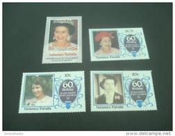 F3779 -set - MNH  Nanumea-Tuvalu 1986. 60th ANNIVERSARY OF ELIZABETH II - Koniklijke Families