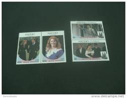 M1254- Set MNH - Nuitao-Tuvalu  1986- Royal Wedding - Koniklijke Families