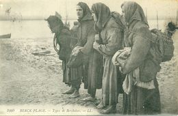 SUPERBE BERCK (62) - LES PECHEUSES - ECRITE 1915 - A21f Eb - Berck