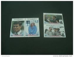 M1285- Set MNh Nanumaga  Tuvalu- 1986- Royal Wedding - Koniklijke Families