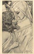 Jan TOOROP - Ontmoeting  Van Maria En Christus Op Den Kruisweg - Toorop, Jan