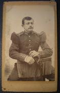 PHOTO CDV - Militaire 148 Régiment ,Photographe Non Lisible Au Dos De La Photo. - War, Military