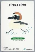 JP.- Japan, Telefoonkaart. Telecarte Japon. - Birds & Birds - Shirochidor. - Telefoonkaarten