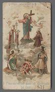 ES3422 S. SAN FRANCESCO RICORDO ANNO SANTO 1900 I FRANCESCANO NEL GIUBILEO UNIVERSALE DISCRETO Santino - Religione & Esoterismo