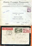 """Maroc,Morocco,Marruecos; 1932 """" Acte De Décès Et Lettre Aux Pompes Funèbres  """" - Briefe U. Dokumente"""