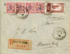 """Maroc,Morocco,Marruecos; 1924  """" Belle Enveloppe """" - Briefe U. Dokumente"""