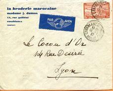 """Maroc,Morocco,Marruecos; 1937  """"  Belle Enveloppe ; Le Cocu D'or"""" - Marokko (1891-1956)"""