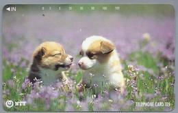 JP.- Japan, Telefoonkaart. Telecarte Japon. NTT. - Honden - - Honden