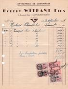 1946 - SAINT-LAURENT-BLANGY (62) - Entreprise De Camionnage - Maison Robert WITRANT Fils - Documentos Históricos
