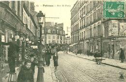 SUPERBE PUTEAUX (92) - LA RUE DE PARIS EN 1913 - L ABEILLE - CPA VOYAGEE Eba9 - Puteaux