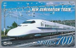 JP.- Japan, Telefoonkaart. Telecarte Japon. NTT. - NEW GENERATION TRAIN - SERIES 700 - Treinen