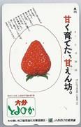 JP.- Japan, Telefoonkaart. Telecarte Japon. AARDBEI - Levensmiddelen
