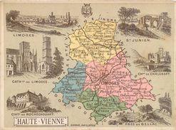 CHROMO Librairie Hachette Département De La Haute-Vienne (87) Limoges St-Junien Bellac St-Yrieix Eymoutiers Magnac-Laval - Other