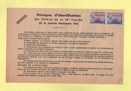Document Confidentiel - Principes D'identification Des Timbres De La Loterie Nationale - 1951 - Erinnophilie
