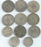 MONNAIE GRANDE BRETAGNE 11 Pieces Argent  Port 1,50 Euro - 1902-1971 : Post-Victorian Coins