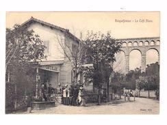 Roquefavour. Bouches Du Rhône.  Le Café Blanc. Avec Attelage. (2138) - Cafés