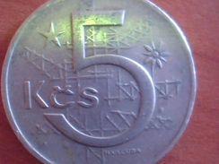 CECOSLOVACCHIA    5 KORUNY 1966 1968 1979 1984 KM#60 - Czechoslovakia