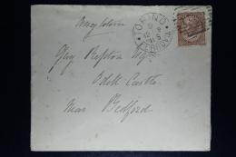 Italy: Cover 1878  Torino To Bedford UK, Sa Nr 19 - 1900-44 Vittorio Emanuele III