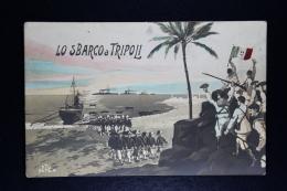 Italy: Postcard  Lo Sbarco A Tripoli  With Cancel Cincinnnati 1911 - 1900-44 Vittorio Emanuele III