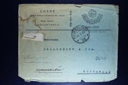 Italy: Registered Cover Constantinople  Rotterdam, Posta Militare 1920  Fragile - Uffici D'Europa E D'Asia