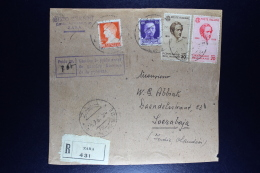 Italy: Registered Cover / Front Of Package From ZARA  To Soerabaja Dutch East Indies Sa 388 + 389 - 1900-44 Vittorio Emanuele III