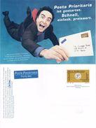 INTERO POSTALE POSTA PRIORITARIA BILINGUE ORO E AZZURRO 1999 - L. 1.200 / € 0,62 - CATALOGO FILAGRANO C242A - NUOVO ** - 6. 1946-.. Repubblica
