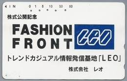 JP.- Japan, Telefoonkaart. Telecarte Japon. - LEO - FASHION FRONT -. - Reclame