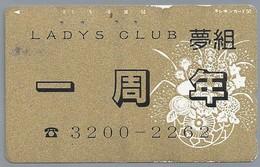 JP.- Japan, Telefoonkaart. Telecarte Japon. - LADYS CLUB -. - Reclame