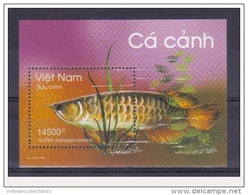 Vietnam Viet Nam MNH Perf Withdrawn Souvenir Sheet 2009 : Ornamental Fishes / Fish (Ms986B) - Viêt-Nam