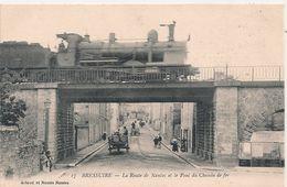 Cpa 79 Bressuire  Pont De Chemin De Fer Route De Nantes - Bressuire