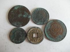 MONNAIE - Lot 5 Pièces D'origine Inconnue - Coins & Banknotes
