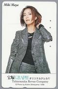 JP.- Japan, Telefoonkaart. Telecarte Japon. - MIKI MAYA -. GRAPH - TAKARAZUKA REVUE COMPANY. - KISHIN SHINOYAMA 1998 - Reclame