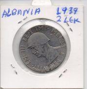 ALBANIA COIN 2 LEK -1939-USED AS SCAN(Kbx) - Albanie
