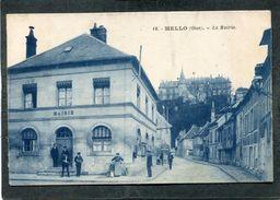 CPA - MELLO - La Mairie, Animé - Francia