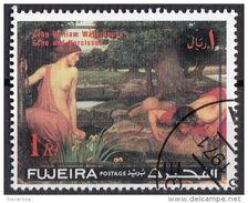 """Fujeira 1971 """"Eco E Narciso"""" Quadro Dipinto Da J.W. Waterhouse Preobliterato Impressionismo Paintings - Nudes"""