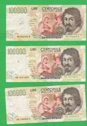 100000 100.000 Lire Caravaggio 2° Tipo Repubblica Italiana - 100000 Lire