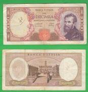 10000 10.000 Lire Michelangelo 1966 Repubblica Italiana - [ 2] 1946-… : Républic